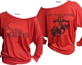 Marine Corps Red Friday Off The Shoulder Shirt