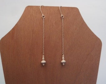 Long Evening Sterling Silver Earrings