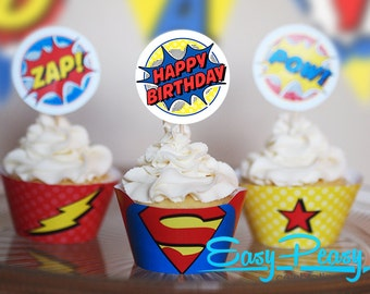 Super Hero Birthday Kit