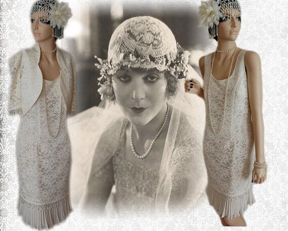 Great gatsby perle de costume de clapet charleston downton for Boutiques de robe de mariage charleston