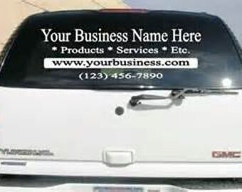 Custom Car Decal Sticker Personalized Car Decals Auto - Vehicle decals for business application