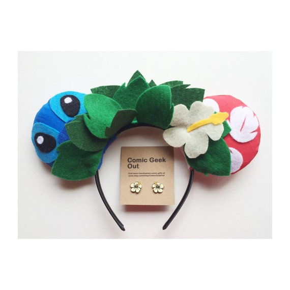 Minnie Ears Lilo Amp Stitch Themed By Comicgeekout On Etsy