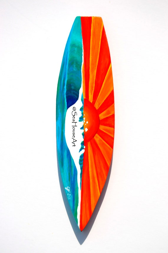 planche de surf en bois dcoration murale en bois de planche de surf surfboard