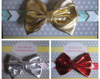 Choose Your Color chevron elastic headband, Baby Headband, baby headband, Newborn headband, Baby Hair Bows.