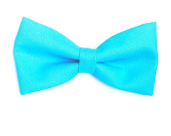 Plain Turquoise Hair Bow