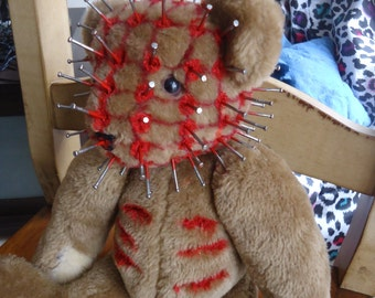 OOAK Hellraiser Teddy Bear, Pinhead, CenoBear! One Of A Kind Horror Teddy Bear with COA!