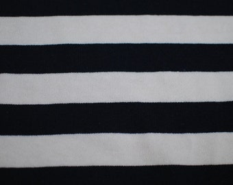 Wide Stripe Knit, White X Navy