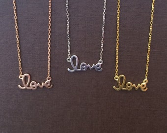 love necklace 100% real sterling silver beauty and a great bridesmaid necklace too