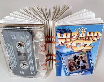 Wizard of Oz soundtrack - cassette tape notebook