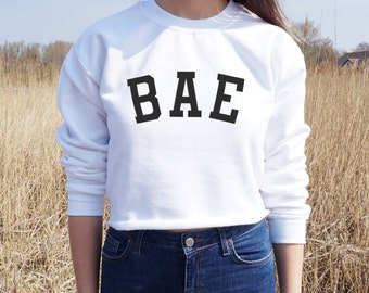Bae Varsity Cropped Sweater Jumper Crop Top Gift Fashion Teen OOTD