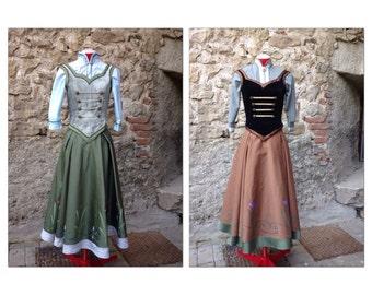 Anna frozen dress costume disney