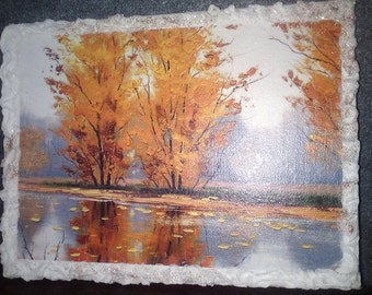 Reproduction decoupage picture rice paper