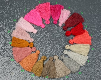 TEN 10 PIECES Cotton TASSEL Bracelet size 25mm High Quality