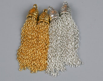 Chain TASSEL TASSLE Tassels 2 Pieces
