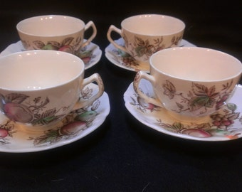 Johnson Bros. Harvest Time Cup and Saucer (494)