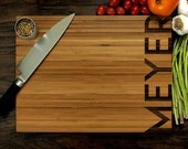 Personalized Cutting Board, Custom Wedding Gift, Anniversary Gift, Housewarming Gift, Christmas Gift, Chef Gift, Simplistic Typography