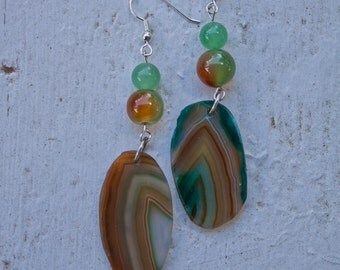 Colorful Agate Earrings