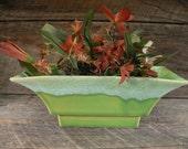 POTS & PLANTERS SALE: Green Drip Pasadena Planter, Roseville Pottery