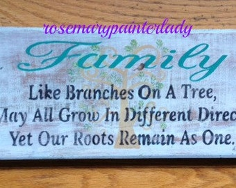 Mother's Day, RUSTIC FAMILY Recycled barn wood sign,  roots,tree,  shabby chic with a loving verse