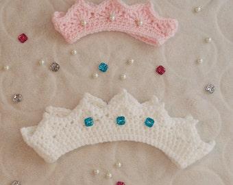 Crochet Tiara/Crown with Jewels