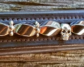 Attitudinal: Horse browband w/ magnetic healing hematite beads with skull spacers -- other spacers, colors, styles available!