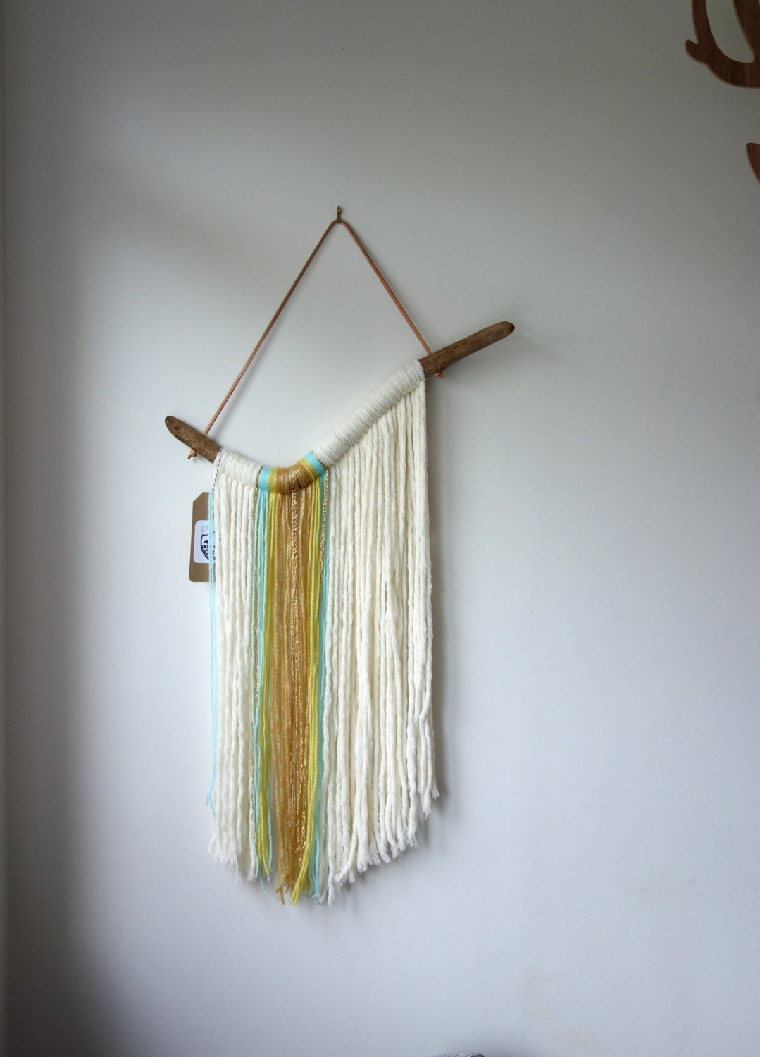 Driftwood Yarn Wall Hanging Waterfall Textile