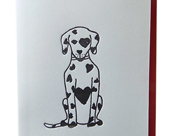 Puppy Love Letterpress Card
