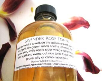 Lavender Rose Toner, 1, Or 8 oz, apple cider vinegar toner infused with herbs, Hair rinse
