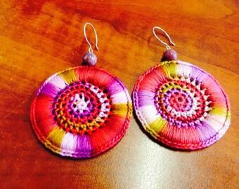 Crochet Earrings Variegated