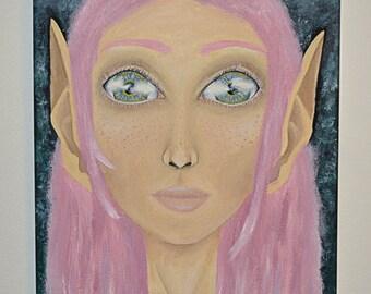 Fairy Original Oil Painting