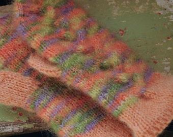 Hand-knitted children's mittens