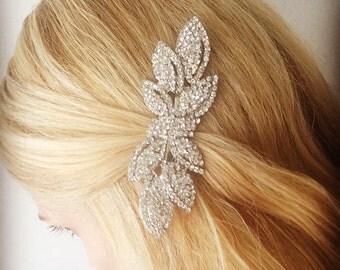 Bridal rhinestone crystal bow headpiece - Style #301