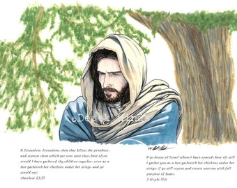 Christ Reflecting with words LDS Art Photo Download
