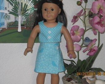 American girl doll top and skort
