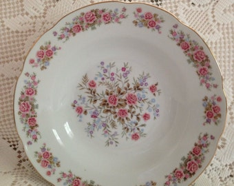 Remington Serving Bowl, Remington Fine China By Red Sea, Vintage Serving Bowl, Vegetable Bowl, China Bowl, Pink Roses, Floral Bowl