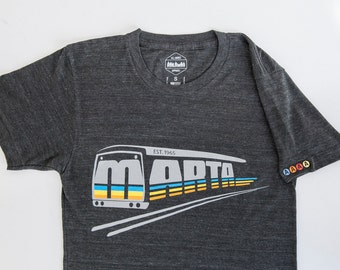 Vintage Inspired Officially Licensed  Atlanta Marta T-shirt Tri-Blend Black
