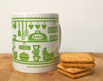 Welsh Gifts - Welsh Mug - Wales - Welsh - Welsh Kitchen Mug - Wales Mug - Welsh Kitchen - Gift From Wales - Sale