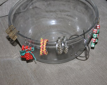 SALE 6 Pairs of Vintage Earrings For Pierced Ears, Fashion, Two Dangle, Three Are Hoops, One is Unique, Beautiful, Two Christmas Earrings
