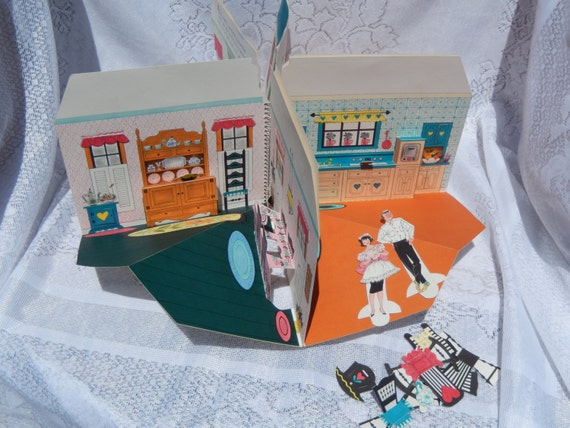 1960s Paper Doll Playhouse Book Full Of Fun For A Nice