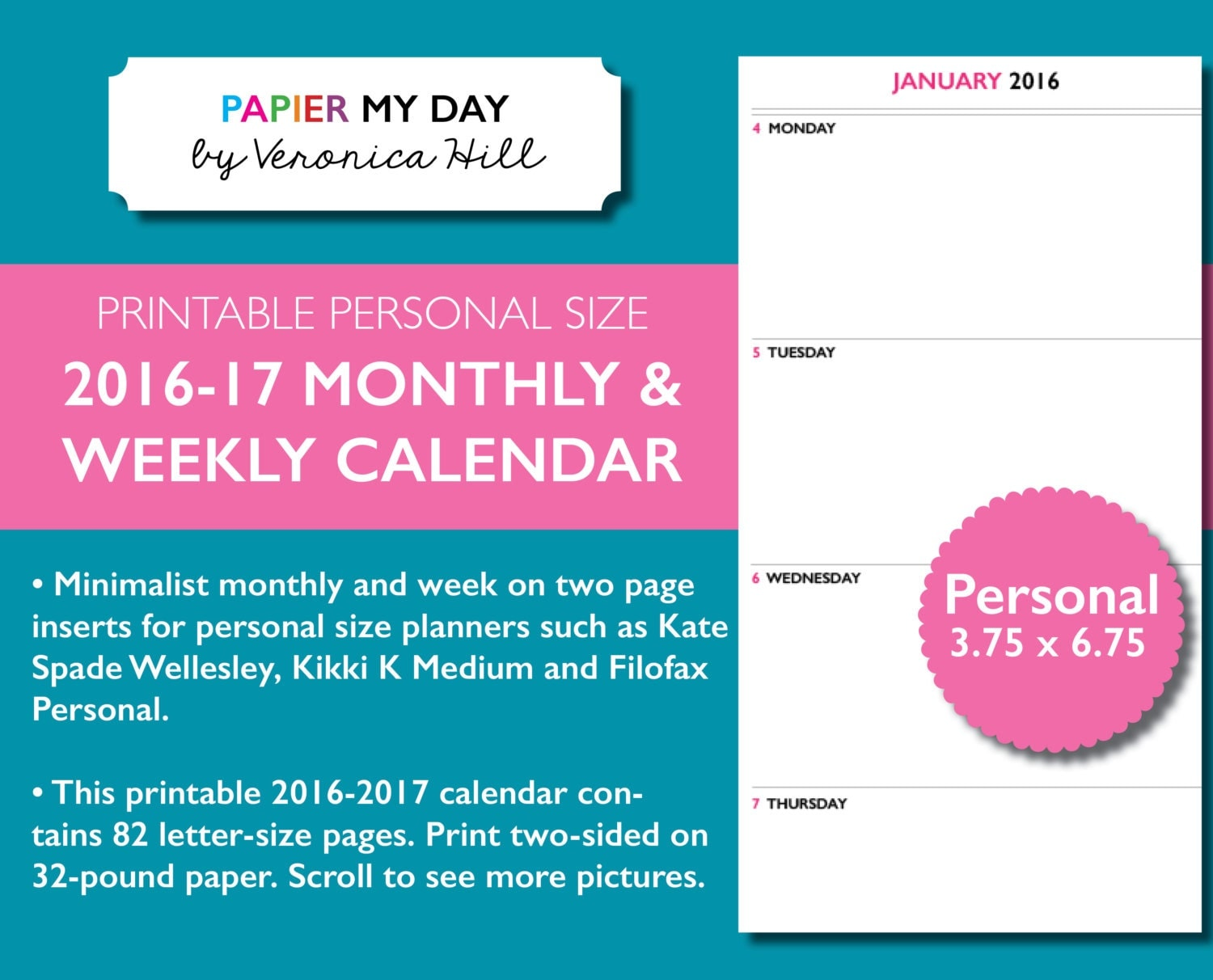 filofax personal 2016 week on two pages filofax 2016 month
