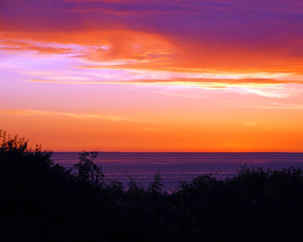 Purple Sunset Fine Art Photography Wall Photo Print Orange
