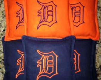 Michigan cornhole bags set of 10