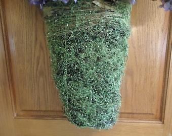 Large Twig Wall Basket Natural Vine Green Door Hanging  Floral Arrangement Supplies #272A