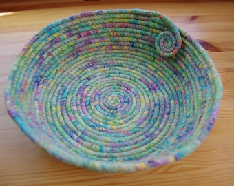 SALE!! Spring Garden Batik Extra Large Coiled Fabric Basket