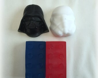 10 Star Wars Building Block Soap Favors