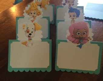 Bubble Guppies Place Cards/ Food Tent- set of 12