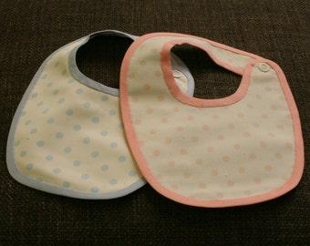 Bibs baby polka dot pattern