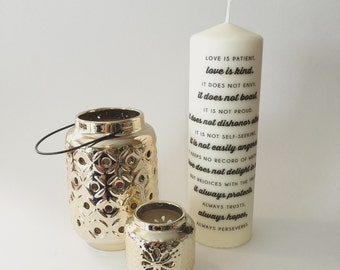 Love is Patient Wedding Candle