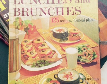 "1963 Better Homes & Gardens ""Lunches and Brunches"" cookbook"