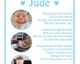 Godson Goddaughter Gift Christening Baptism Present